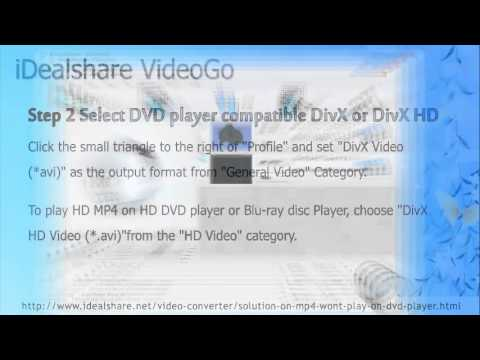 Cant Play MP4 on DVD Player Solution: Convert MP4 to DVD Player...