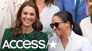 Meghan Markle Bonds With Kate And Pippa Middleton At Wimbledon Women's Final