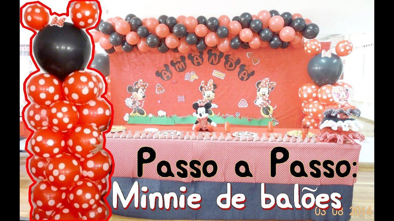 Passo a passo Minnie feita de balões  YouTube
