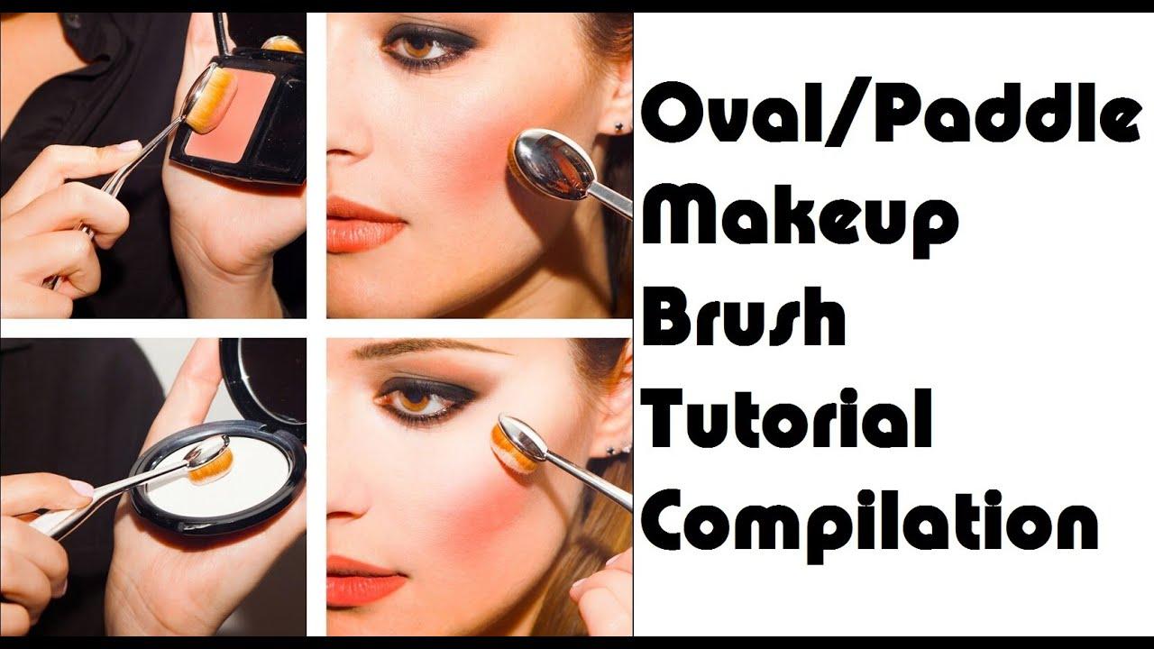 Paddle brush makeup