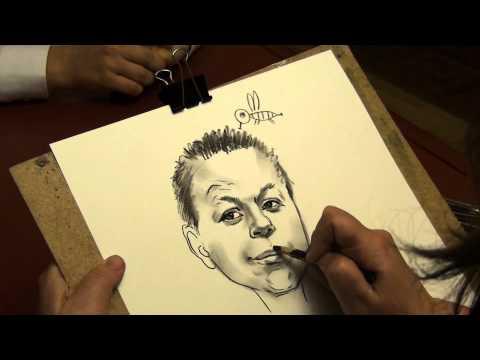 Видео как научиться рисовать шаржи