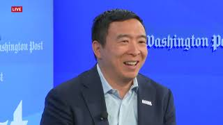 Democratic Presidential Andrew Yang talks 2020 election at Post Live