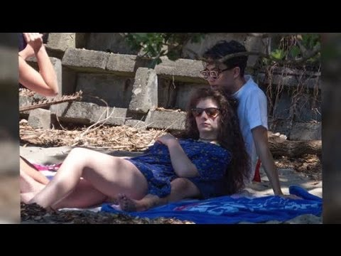 Singer Lord Singer Lorde Hits The Beach in