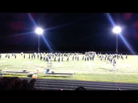 Patterson Mill High School Marching Band - first show of the 2013 football season