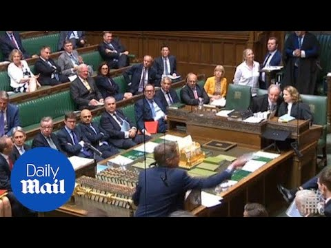 House of Commons suspended after Brexit plans are not shown - Daily Mail