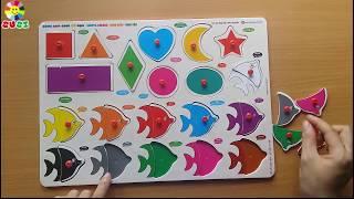 Đồ chơi ghép hình giúp bé nhận biết các hình khối và màu sắc
