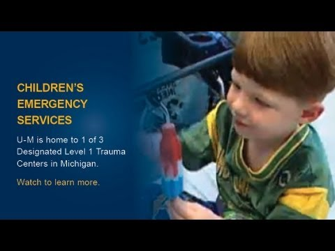 Learn about Children's Emergency Services at the University of MIchigan Health System