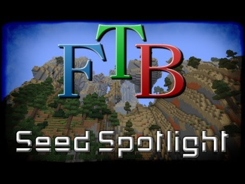 Minecraft Feed the Beast Unleashed Seed - Hollow Mountain / Dual Ravines / Dungeons / Village