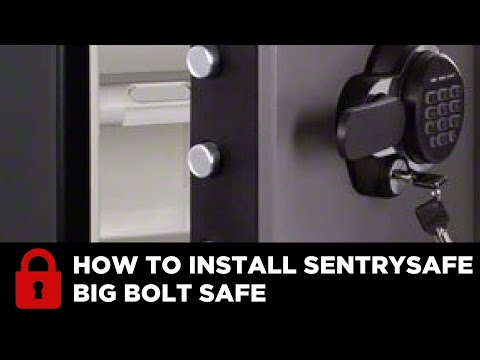 How To Install a SentrySafe Big Bolt Safe. @SentrySafe