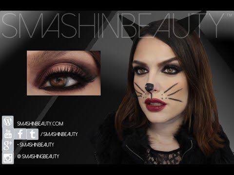 Sexy Catwoman Halloween Makeup Tutorial 2014