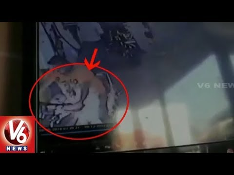 Bike Catches Fire at Petrol Pump in Tamil Nadu | V6 News