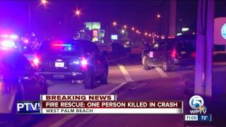 Fire Rescue: One person killed in West Palm Beach crash