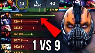 Epic Sh*t 1 vs 9 Anti-Mage Impossible Comeback 10 Item Build Insane 59k Networth - Dota 2