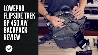 Lowepro Flipside Trek BP 450 AW Backpack Review w/ Canon 1DX Mark ii