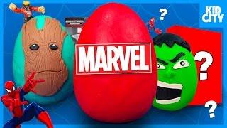 Marvel Superheroes Surprise Egg with HULK Spiderman Toys Avengers Toys Unboxing   KIDCITY