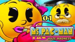 Ms. Pac-Man Maze Madness (PS1) 01: CleoPactra & Mummy Dearest