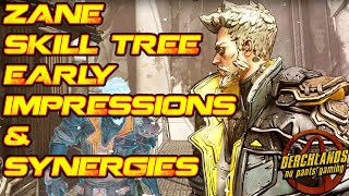 Borderlands 3 Zane Skill Tree Early Impressions and Synergies