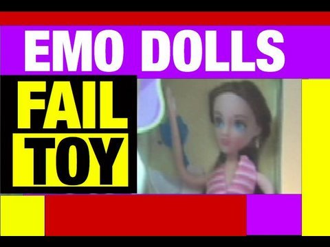 Emo Girl Dolls Funny Video Fail Toys Review Video by Funny Mike Mozart Jeepersmedia Video