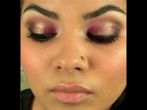 Smokey purple eye look that sparkles!!