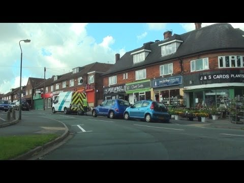 Derby streets by car in HD - Mackworth Estate, Derby, Derbyshire,UK. July 2012. A real car journey.