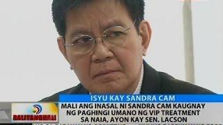 BT: Mali ang inasal ni Sandra Cam sa paghingi umano ng VIP treatment sa NAIA, ayon kay Sen. Lacson
