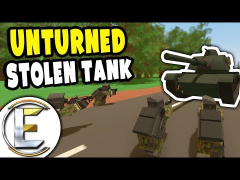Stolen M60 Tank Rampage | Unturned Military RP - Mission: Take Down The Tank (Roleplay) thumbnail