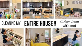 WHOLE HOUSE CLEANING MOTIVATION // ALL DAY CLEAN WITH ME // Jessica Tull cleaning