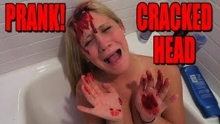 CRACKED OPEN HEAD PRANK! - SCARE PRANK