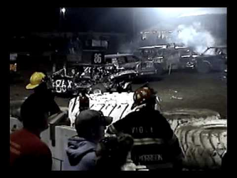 Mercer County Fair Demolition Derby Aledo IL 2009.avi