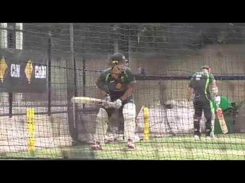Clarke bats freely in first training session