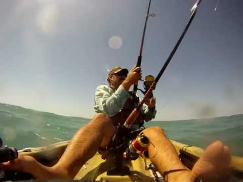 Kayak Fishing from the beach in East Central Florda