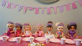 BABY ALIVE Ruby Snow's Princess Birthday Party!