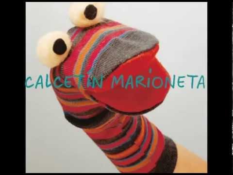 Manualidades infantiles: Calcetín marioneta