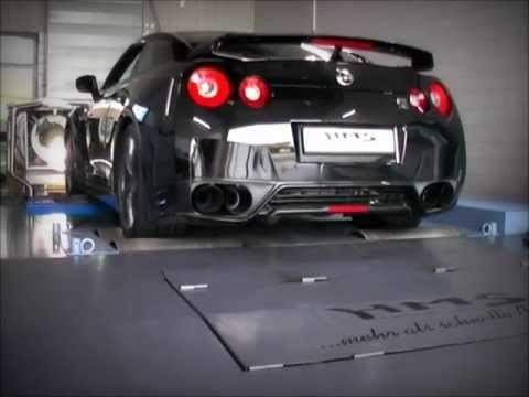 Nissan GT-R Soundfile mit HMS  Performance Klappenabgasanlage.wmv