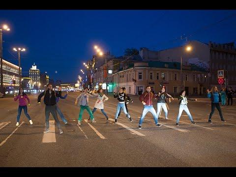 Флешмоб пешеходов на Садовом кольце 5 мая 2015 года