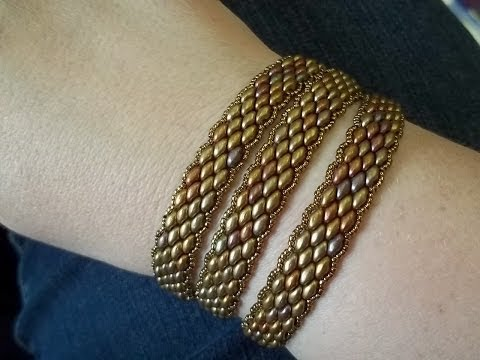 Super Duo Peyote Stitch Wrap Bracelet