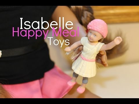 American Girl Isabelle Happy Meal Toys Opening and Reviewing (ALL 8)