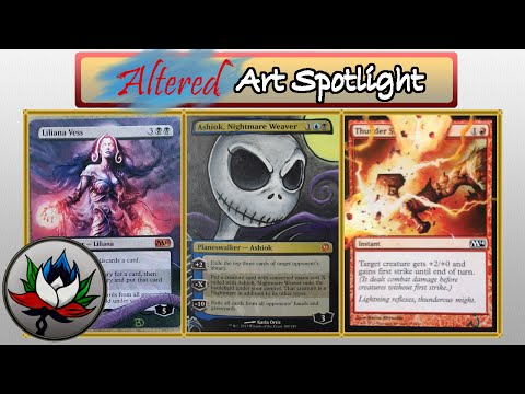 Altered Art: The Nightmare Before Christmas, Swan Song, Liliana Vess, and more - MTG!