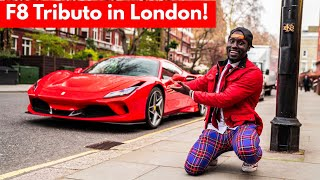Ferrari F8 TRIBUTO driving in London for the first time