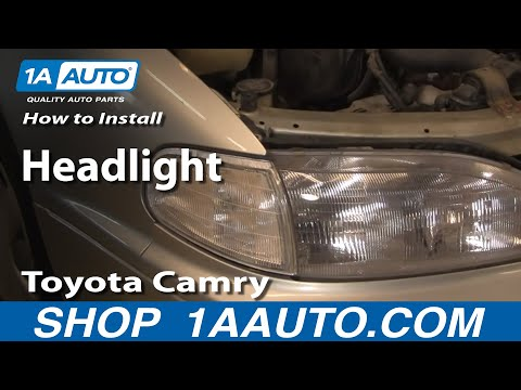 How to Install Replace Headlight Toyota Camry 92-94 1AAuto.com
