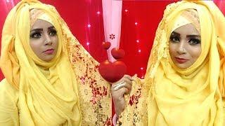 Hijab Style with salwar kameez || Eid Special part 2 || Sanziba Chandni ||