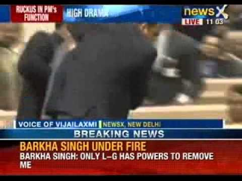 NewsX: Protestors disrupt Manmohan Singh's speech at Vigyan Bhawan