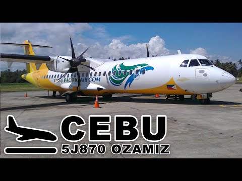 Landing at Mactan-Cebu International Airport | CEBU PACIFIC AIR FLT 870 ATR