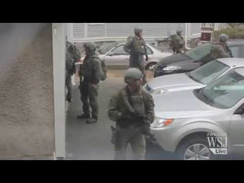 Footage of Martial Law Tactics in Watertown, Massachusetts - 4/19/2013