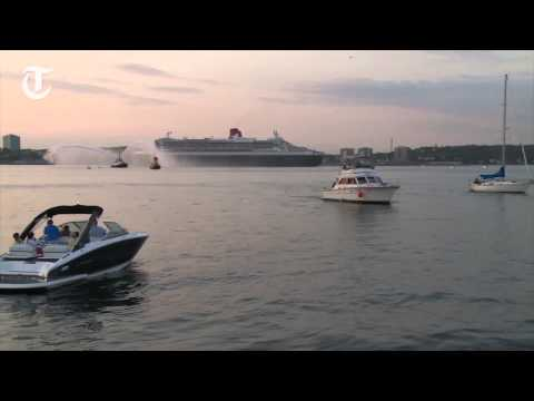 QM2 arrives in Halifax on anniversary cruise