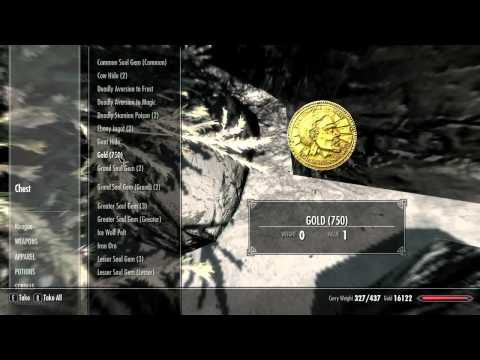 Skyrim Infinite Gold & Secret Chest in Dawnstar. GLITCH for 360/PS3/PC