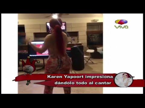 Karen Yapoort impresiona dándolo todo al cantar