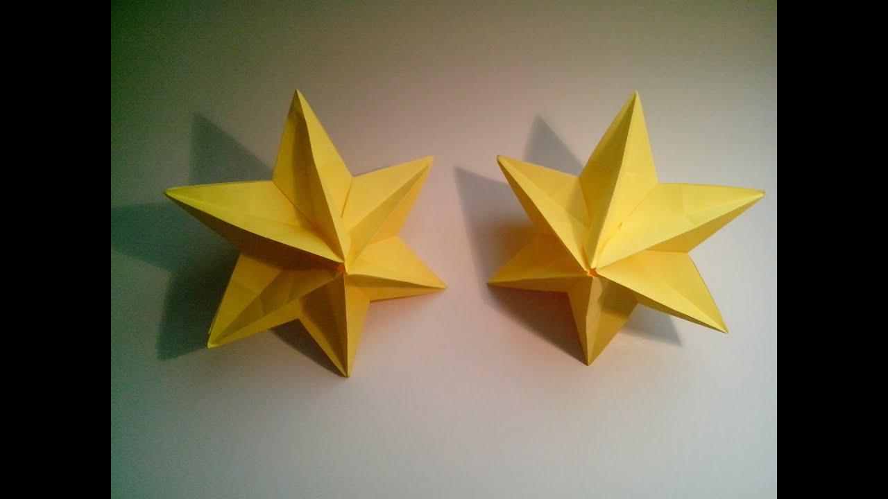 Como hacer una estrella modular de origami 3d decoraci n for Adornos navidenos origami paso a paso