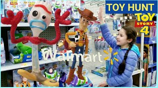 TOY STORY 4 MOVIE TOYS   TOY HUNT AT WALMART   Talking toys