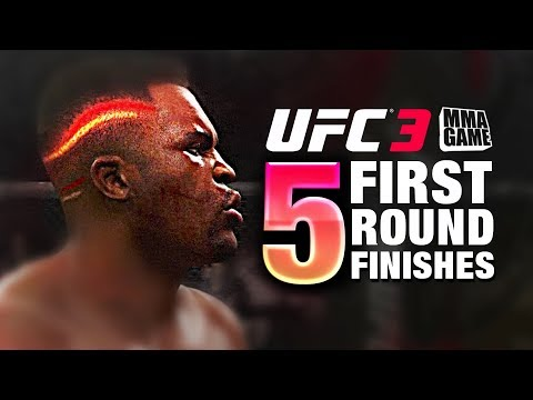 EA Sports UFC 3 - 5 Ranked First Round FINISHES